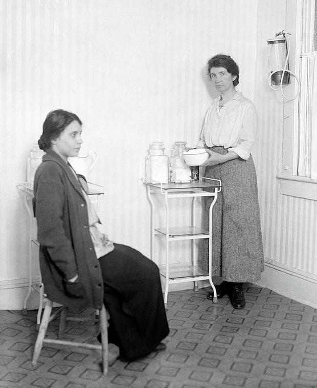 Маргарет Санджър  като медицинска сестра