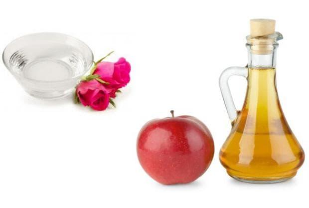 Розова вода и оцет