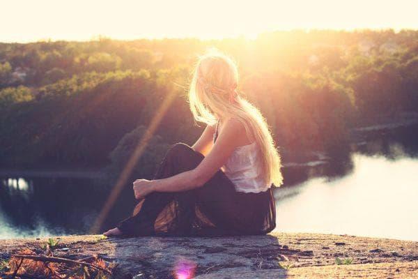 момиче, природа, свобода