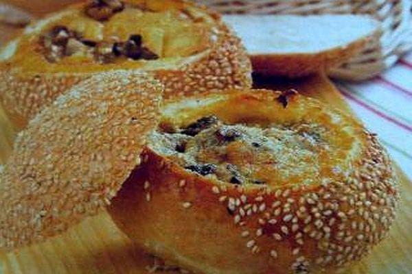 омлет в хлебче
