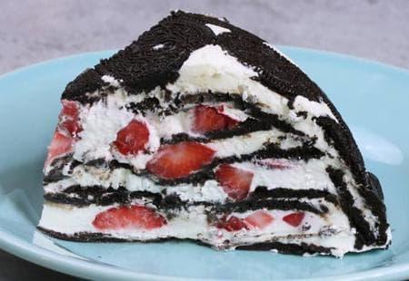 обърната торта орео