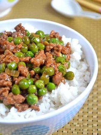 ориз с кайма и грах