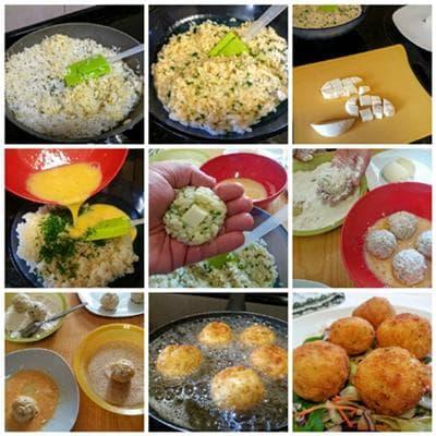оризови крокети с моцарела