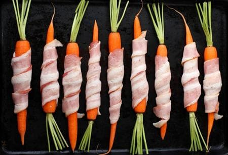 моркови в бекон