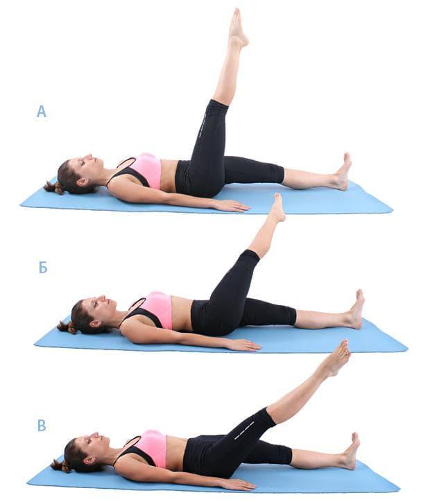 Пилатес упражнение - кръгове с един крак от лег