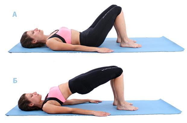 Пилатес упражнение - повдигане на таза