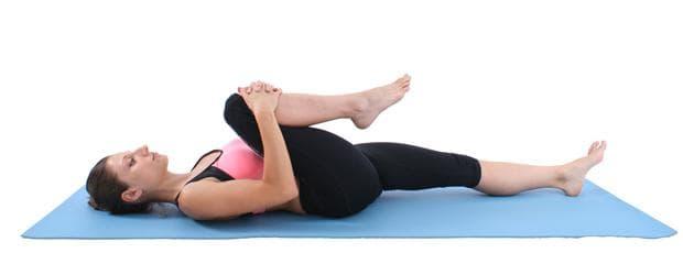 Пилатес упражнения - Стречинг на единия крак