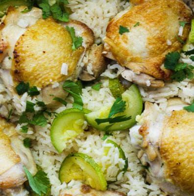 пиле с ориз и тиквички