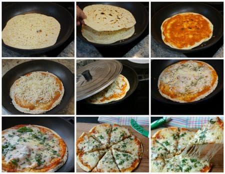 Хрупкава двойна пица на тиган