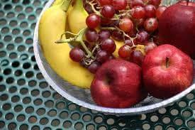 банани, грозде,ябълки