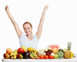 Жена и здравословна храна