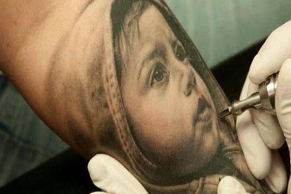 Татуировка - детски портрет