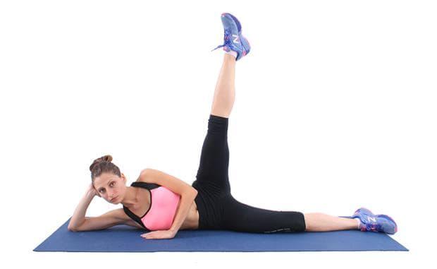 упражнение за крака - странично повдигане