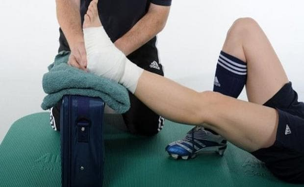 повдигане на крака при травма