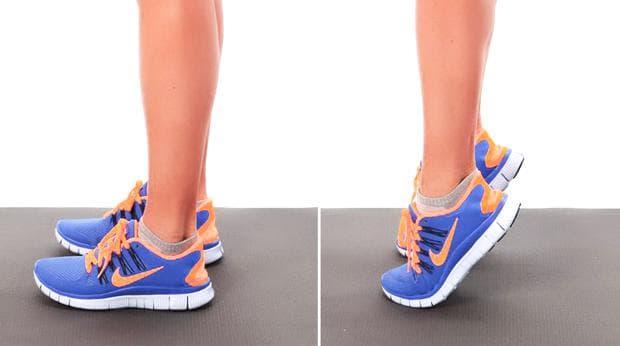 упражнение за крака - повдигане на пръсти
