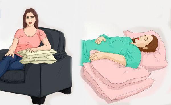 Повдигане на ръката с възглавници