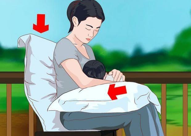 Удобна позиция за кърмене