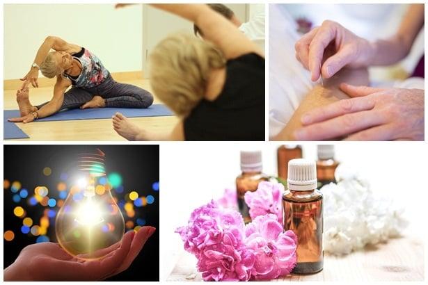 Йога, акупунктура,ароматерапия,светлинна терапия