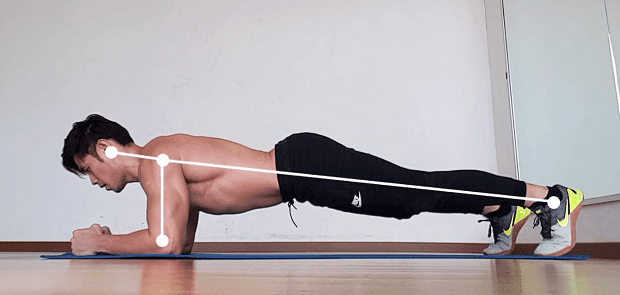 Правилно положение на тялото при планк