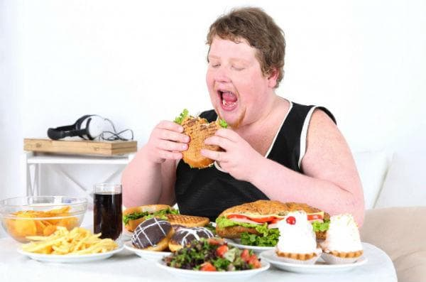 Прием на огромно количество храна за кратко време