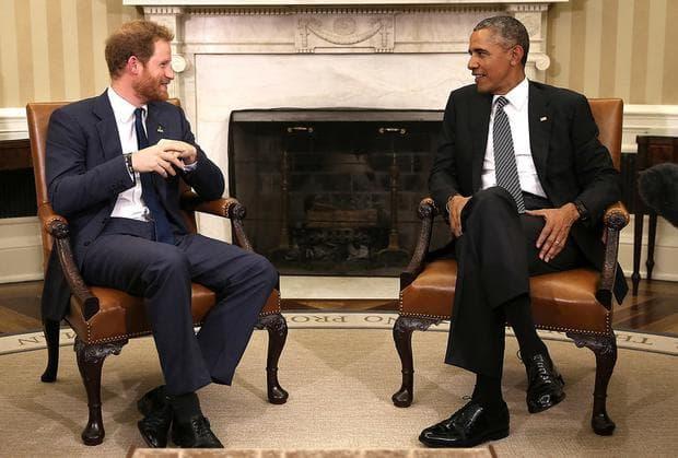 принц Хари и Барак Обама