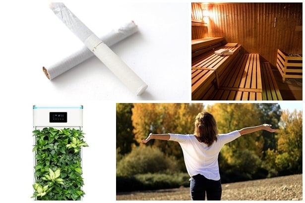 отказване на цигари, сауна, чист въздух,упражнения