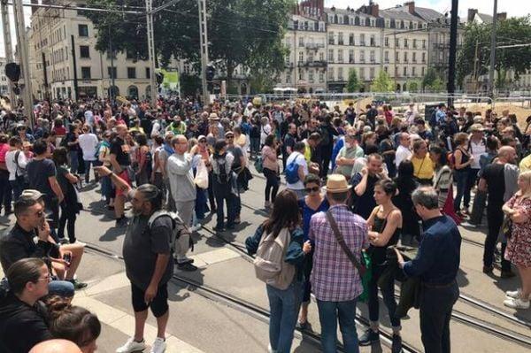 протестът в Нант
