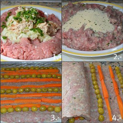 руло стефани с маслини, бекон и домати