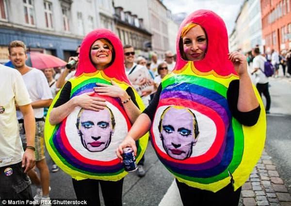 Протест срещу Путин