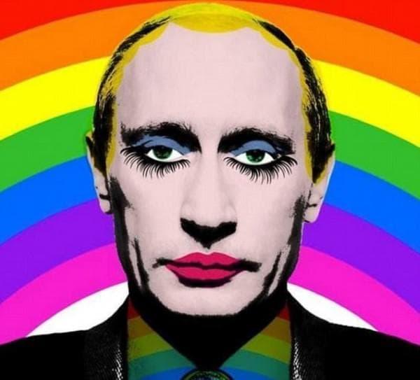 Меме на Путин като гей
