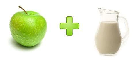 Маска с ябълки и мляко