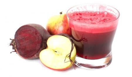 сок от ябълки и цвекло