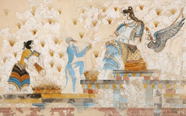 стенописи с шафран