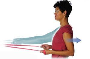Упражнение с издърпване на ластична лента