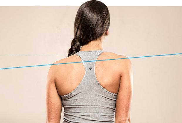 различно ниво на раменете