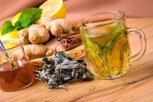 зелен чай с канела и джинджифил