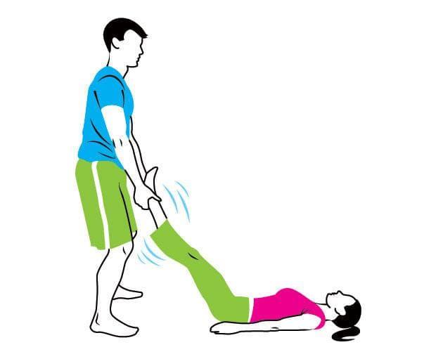 Отпускане на мускулите на бедрата