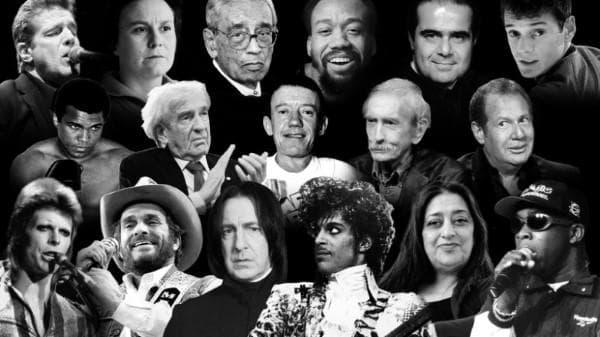Звезди, които умряха през 2016 г.