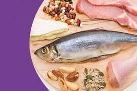 Риба, месо, бобови и ядки