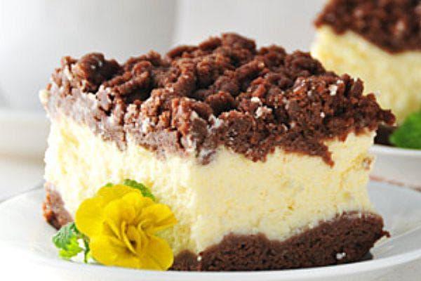 Шоколадов чийзкейк с ванилов пудинг
