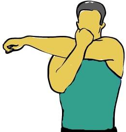 разтягане на задната част на рамото