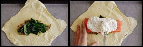сьомга с горчица и спанак