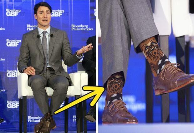 чорапите на Джъстин Трюдо