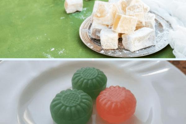 Сладка лютеница с лукчета и локум.