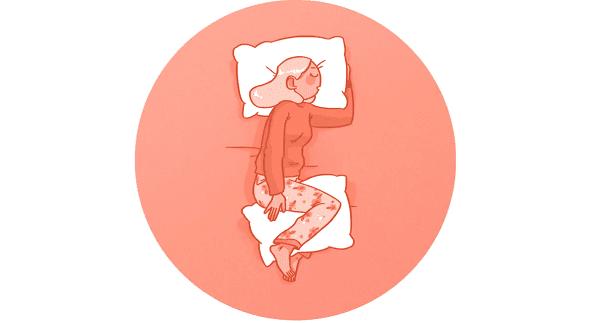 Възглавница между коленете
