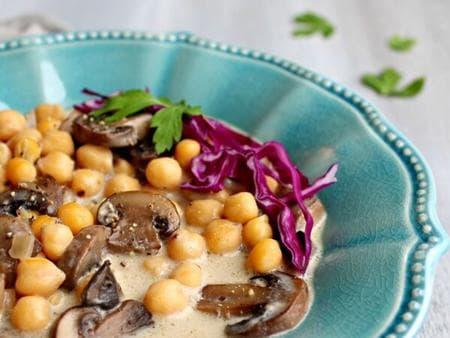 сметанова супа с гъби и нахут
