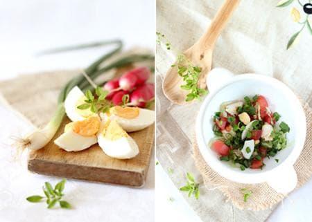 сметанова супа с репички, домат и яйца