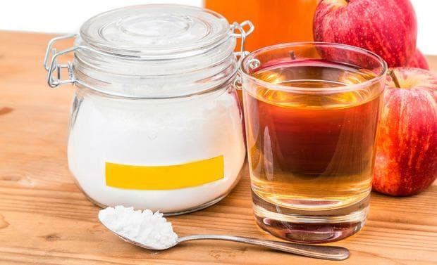 Ябълков оцет и сода