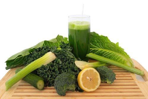 Сок от зелени листни зеленчуци