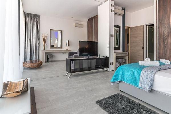 Неутрални цветове за спалня, които изключват бежово